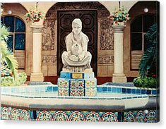 Fountain At Cafe Del Rey Moro Acrylic Print by Mary Helmreich