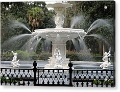 Fountain At Forsyth Park Savannah Acrylic Print
