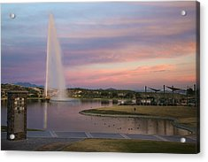 Fountain At Fountain Hills Arizona Acrylic Print
