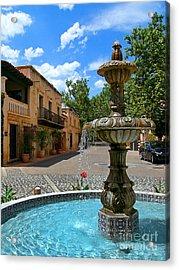 Fountain At Tlaquepaque Arts And Crafts Village Sedona Arizona Acrylic Print
