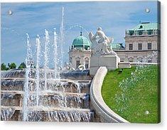 Fountain Cascades Acrylic Print by Viacheslav Savitskiy