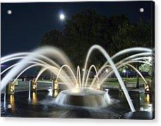 Fountain Charleston Waterfront Park Acrylic Print