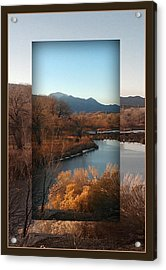 Acrylic Print featuring the photograph Fountain Creek To Pikes Peak by Michelle Frizzell-Thompson