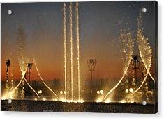 Fountain Acrylic Print by Diaae Bakri