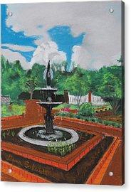 Fountain In Ga Official Botanical Garden At Athens Acrylic Print