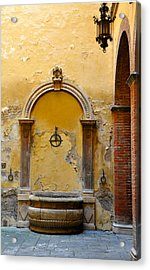 Fountain In Sienna Acrylic Print