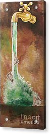 Acrylic Print featuring the painting Fountain by Nereida Rodriguez