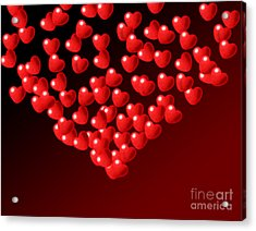 Fountain Of Love Hearts Acrylic Print by Kiril Stanchev