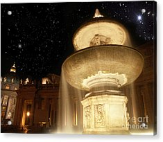 Fountain Of San Peter Acrylic Print by Sandro Rossi
