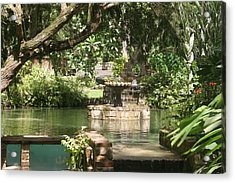 Fountain Of Youth Acrylic Print by Dervent Wiltshire