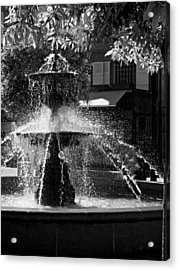 Acrylic Print featuring the photograph Fountain On Place Toulzac / Brive La Gaillarde by Barry O Carroll