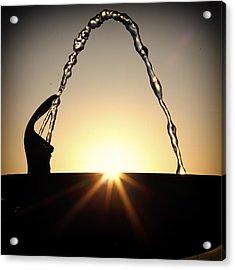 Fountain Over The Sun Acrylic Print by Rscpics