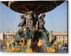 Fountain Place De La Concorde Acrylic Print by Jacqueline M Lewis