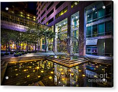 Fountain Reflection Acrylic Print by Marvin Spates