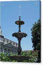 Acrylic Print featuring the painting Fountain  by Robin Maria Pedrero