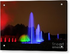 Acrylic Print featuring the photograph Fountain Show At Longwood Gardens by Vadim Levin