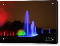 Fountain Show At Longwood Gardens Acrylic Print by Vadim Levin