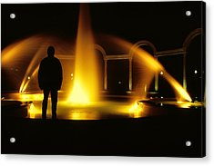 Acrylic Print featuring the photograph Fountain Silhouette by Jason Politte