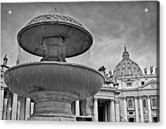 Fountain St. Peter's Square Acrylic Print