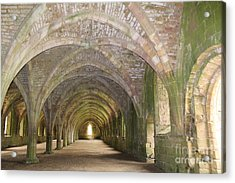 Fountains Abbey Cellarium  Acrylic Print