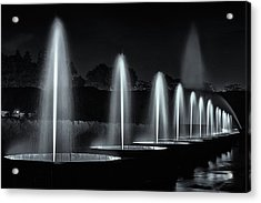 Fountains And Lights Acrylic Print by Eduard Moldoveanu