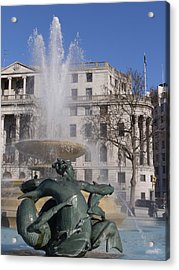 Fountains In Trafalgar Square Acrylic Print