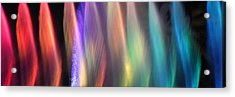 Fountains Of Color Acrylic Print by James Eddy