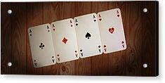 The Four Aces Acrylic Print by Daniel Precht