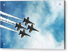 Four Blue Angels  Acrylic Print by James David Phenicie