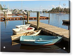 Acrylic Print featuring the photograph Four Boats  by Cynthia Guinn