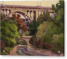 Four Bridges Acrylic Print by Jane Thorpe