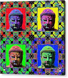 Four Buddhas 20130130 Acrylic Print by Wingsdomain Art and Photography