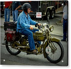 Four Cylinder Henderson Motorcycle Acrylic Print