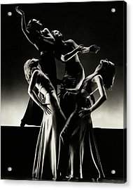 Four Dancers Of The Albertina Rasch Ballet Group Acrylic Print