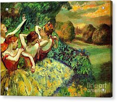 Four Dancers Acrylic Print by Pg Reproductions