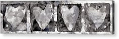 Four Hearts Acrylic Print by Carol Leigh
