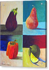 Four In One Acrylic Print by Sandy Linden
