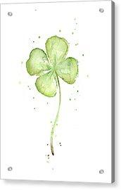 Four Leaf Clover Lucky Charm Acrylic Print by Olga Shvartsur