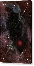 Four Of Wands/stars - Art From The Science Tarot Acrylic Print
