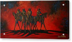 Four On The Hill Acrylic Print by Lance Headlee