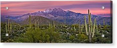 Four Peaks Sunset Panorama Acrylic Print