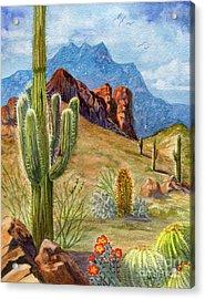Four Peaks Vista Acrylic Print