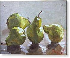 Four Pears Acrylic Print