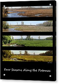 Four Seasons Along The Potomac Acrylic Print