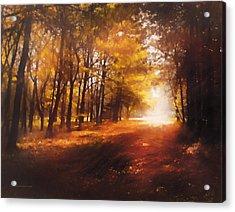 Four Seasons Autumn Impressions At Dawn Acrylic Print