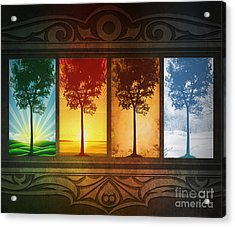 Four Seasons Acrylic Print by Bedros Awak