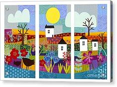 Four Seasons Acrylic Print by Carla Bank