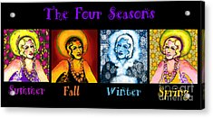 Four Seasons In A Row Acrylic Print by Carol Jacobs