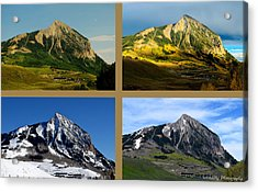Four Seasons Of Mt. Crested Butte Acrylic Print by Mike Schmidt