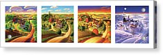Four Seasons On The Farm Acrylic Print by Robin Moline